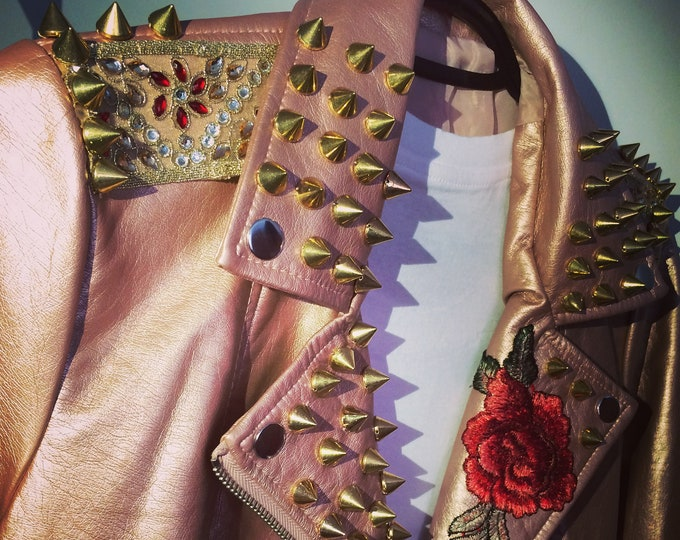 Rose Gold Studded Jacket