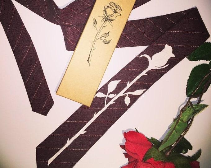 Rose Silhouette Tie