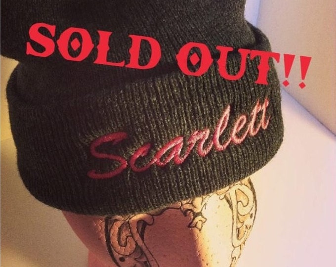 "SOLD OUT* Scarlett Touque- GREY (Black available on ""Black"" listing)"