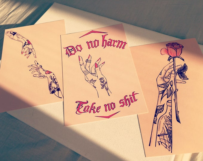 Tattoo Love Print Package (Set of 3)