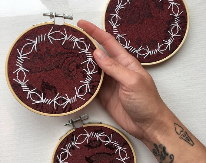 Barbed Wire Embroidery Hoop