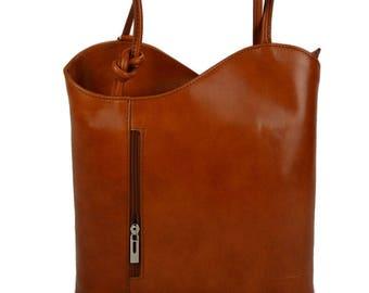Ladies handbag leather bag clutch hobo bag backpack crossbody women bag red brown black dark brown made in Italy