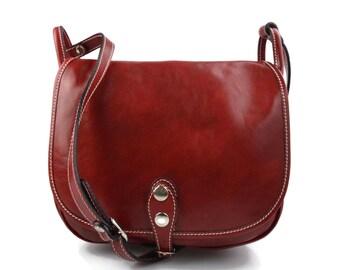 Sacoche femme sacoche rouge de cuir sac femme sacoche besace bandoulière sac  à bandoulière traverser sac d èpaule noir brun rouge a060c7c0656f