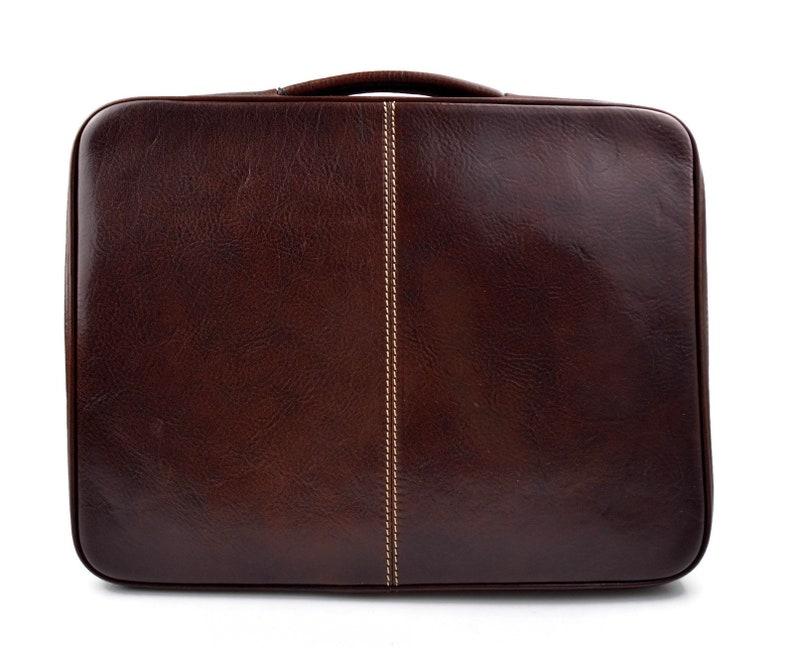 Maletin en piel cartera de cuero A4 bolso de cuero de hombre bolso de cuero de mujer bolso de mano rojo marron negro carpeta de piel