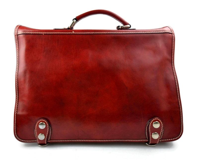 Leather red shoulder bag messenger bag ladies mens handbag leatherbag satchel carry on crossbody business executive bag