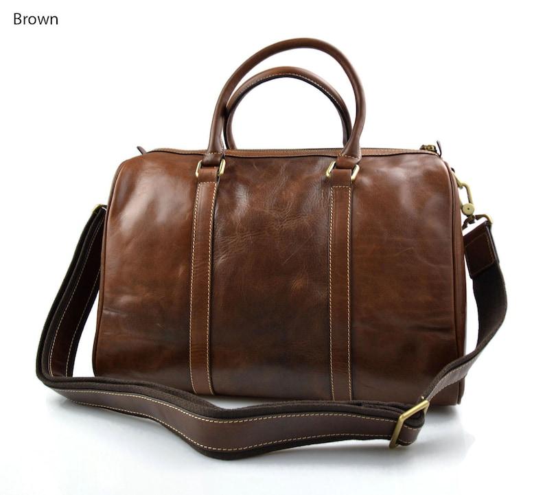 818328ac6c Borsone piccolo in pelle borsa uomo donna borsa viaggio pelle | Etsy