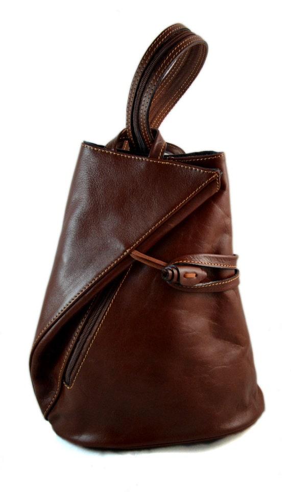 63eb9441e77e Luxury leather backpack travel bag weekender sports bag gym bag leather  shoulder ladies mens bag satchel original made in Italy red brown