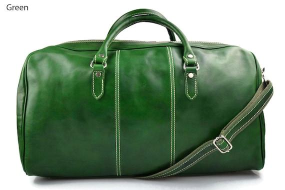 performance fiable bas prix homme Sac de voyage cuir homme femme bandoulière en cuir sac de sport bagage à  main vert sac voyage homme sac voyage femme sac sport cuir