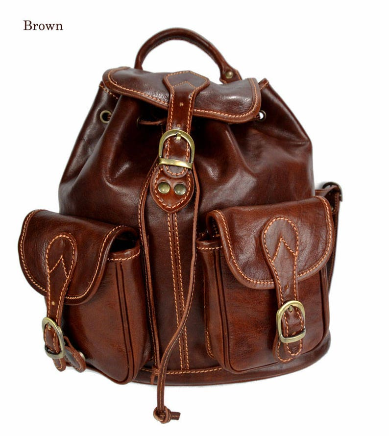 43a2b6bff2 Backpack leather brown backpack genuine leather travel bag