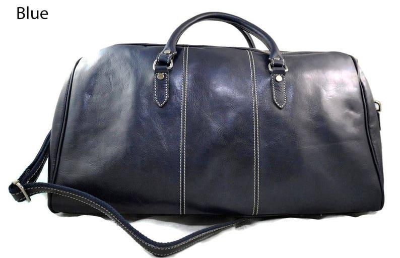 6b715065d9 Borsone pelle uomo donna borsa viaggio con manici e tracolla | Etsy