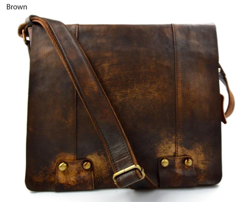 357e5d884 Bolso de cuero bandolera de piel marrón bolso vintage espalda | Etsy