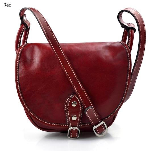 Borsa donna pelle tracolla a spalla testa di moro nero rosso vera pelle hobo bag made in Italy