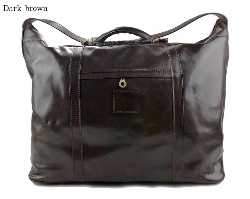 1738f0453 Bolso de viaje bolso hombre bolso de cuero marron bolso mujer | Etsy
