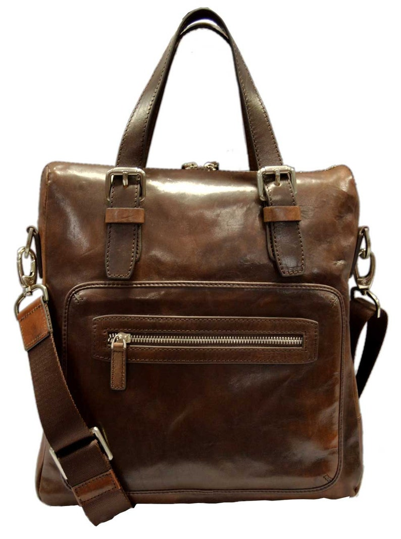 b4f6315c3b Leather notebook bag satchel messenger men ladies bag handbag