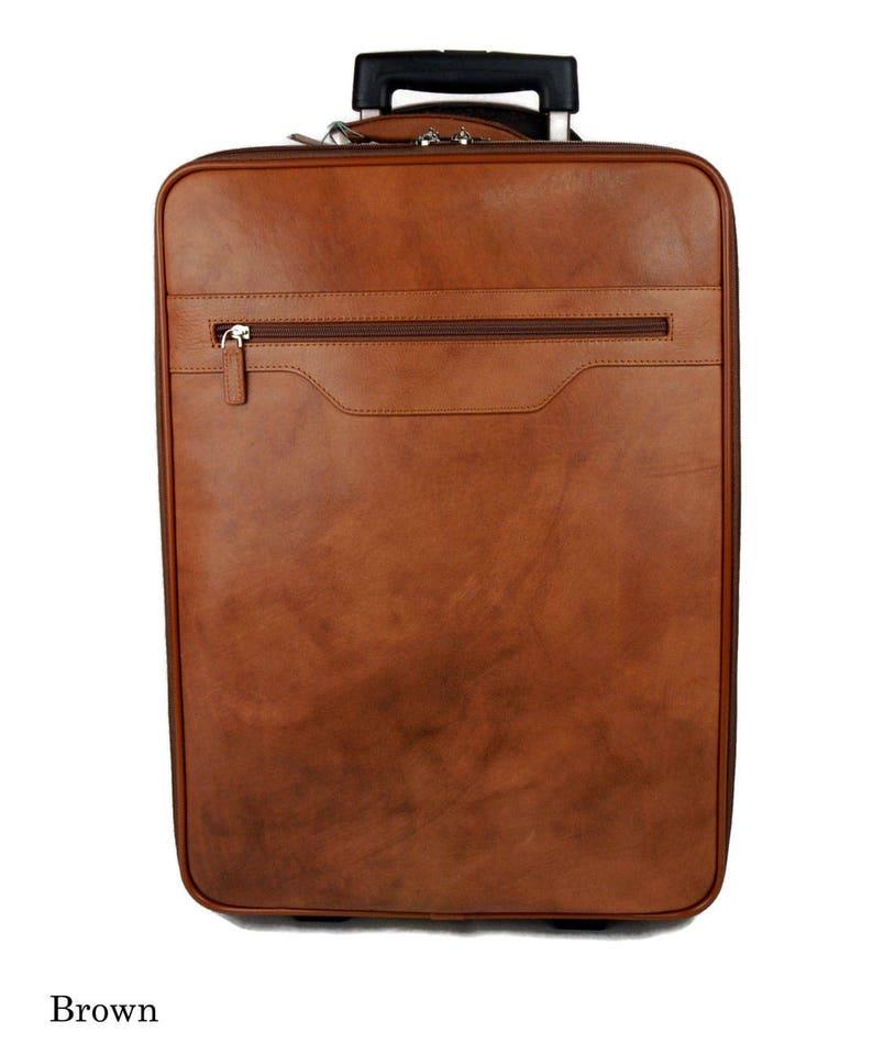 77ce924a5a Trolley rigido pelle borsa pelle borsa viaggio borsa valigia | Etsy