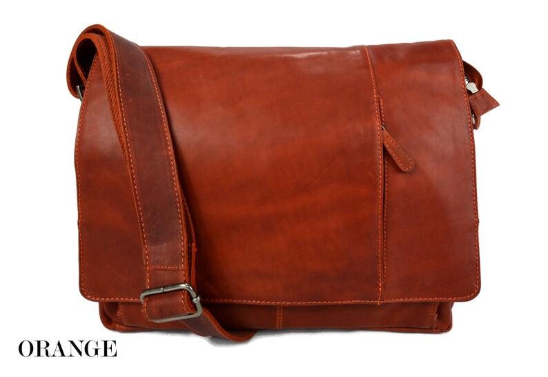 2b80d3d92c Notebook bag italian leather shoulder messenger bag ipad
