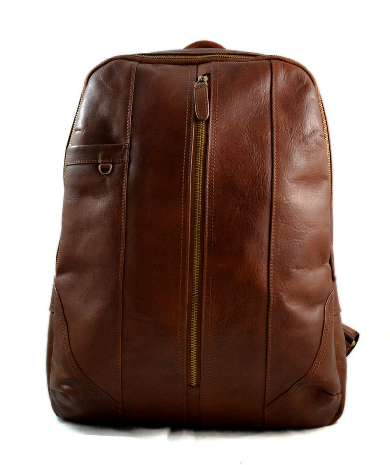 9f98c6a9bd Leather backpack genuine leather brown travel bag weekender