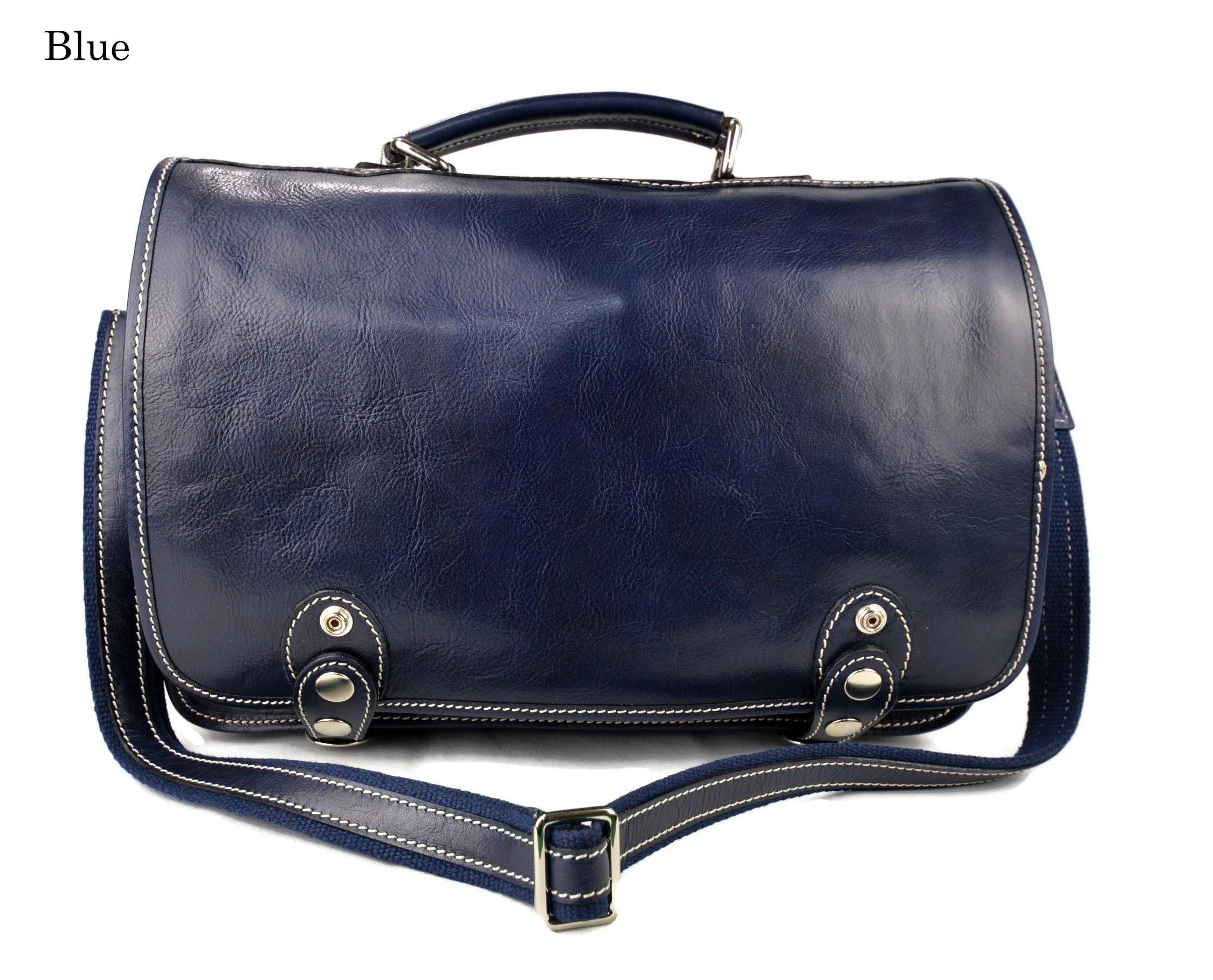 621173f568f Vera Pelle Crossbody Calf Leather Messenger Shoulder Bag