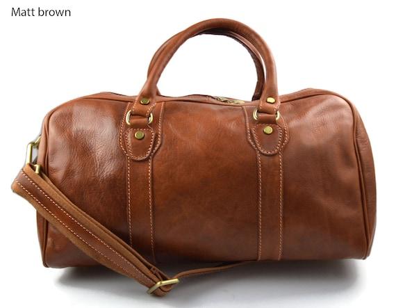 Leather duffle bag genuine leather travel bag overnight bag   Etsy 3f73d5e5f4