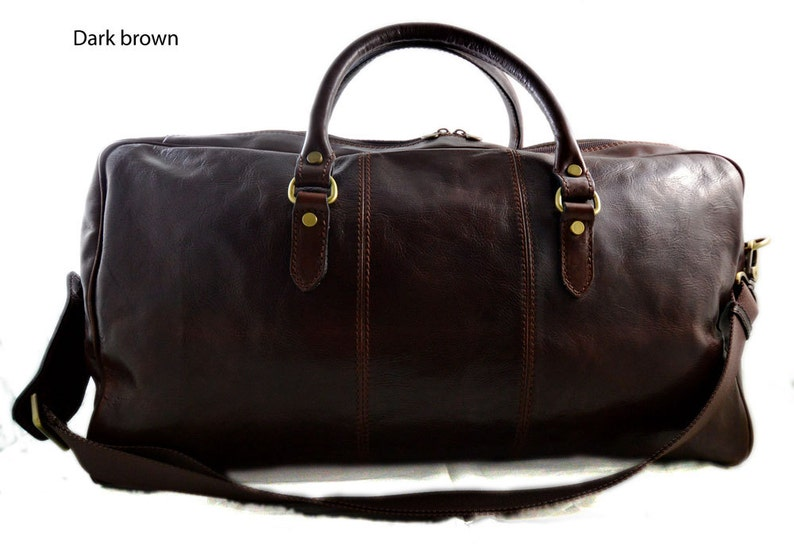ba223859d0 Borsone uomo donna borsa viaggio con manici e tracolla vera | Etsy