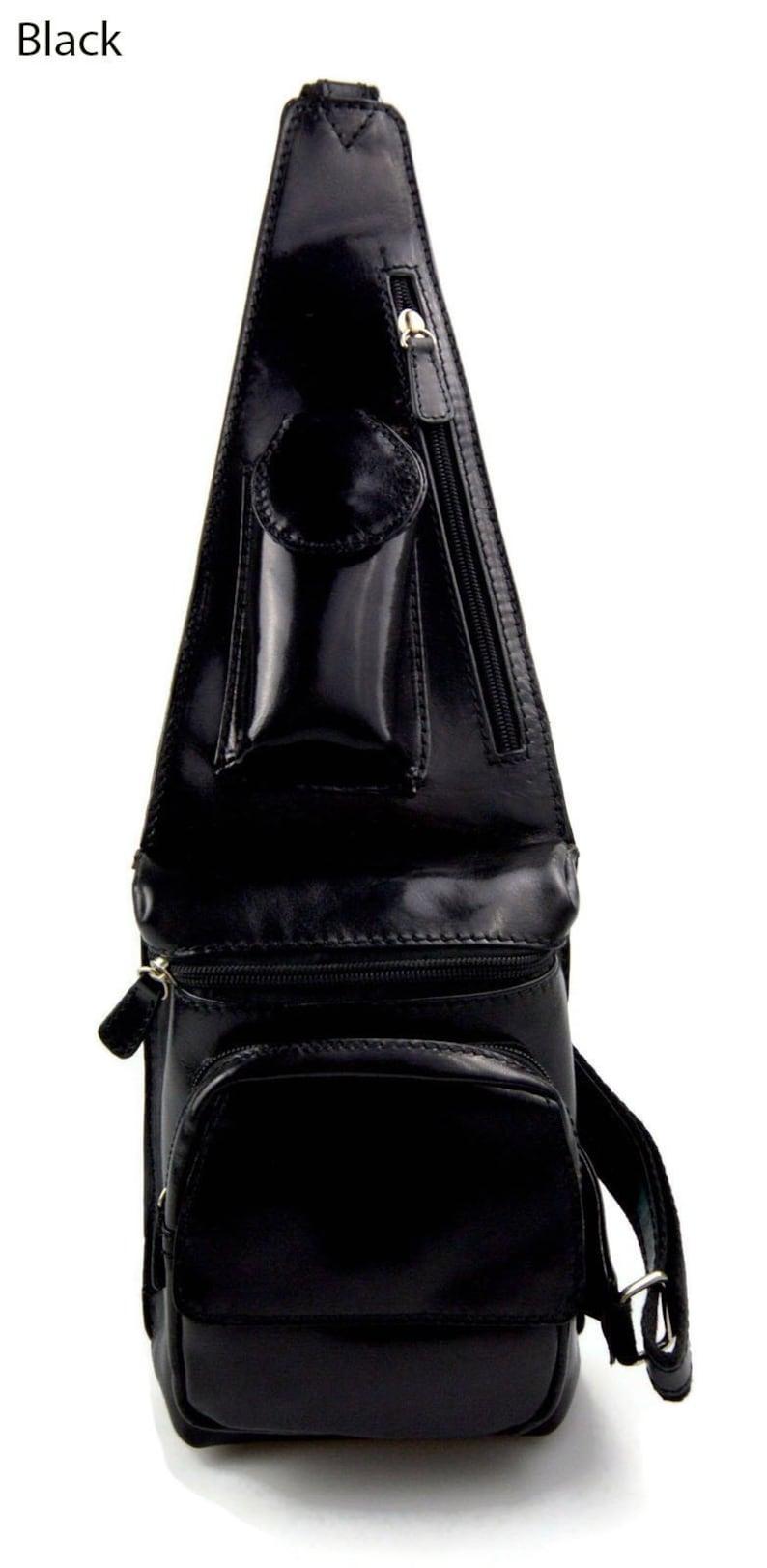 02243db3eca1 Mens waist leather bag shoulder bag travel bag sling backpack