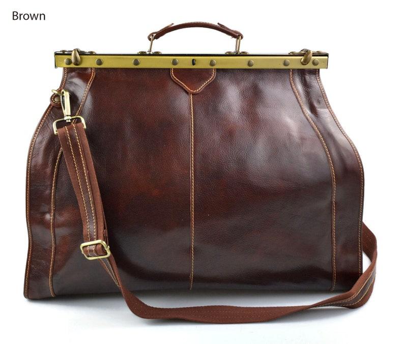 5a82f907648d Leather doctor bag mens travel bag women cabin luggage bag brown leather  shoulder bag medical bag retro doctor bag weekender