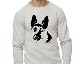 German Shepherd Sweatshirt, German Shepherd Gift, Dog Themed Gifts, Dog Lover Gift, Personalized Sweatshirt, GSD Alsatian Gray Sweatshirt