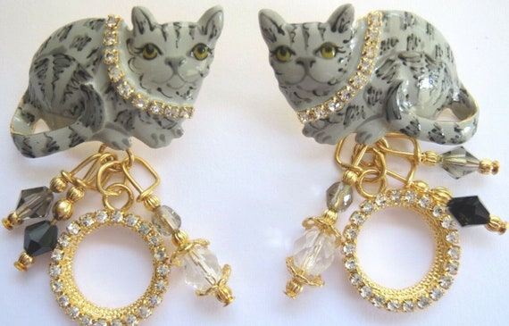 Lunch at the Ritz Alley Cat Crystal Rhinestone Col