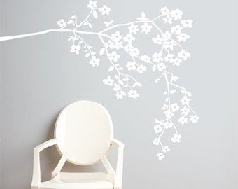 Coastline Blossoms - Wall Decal - White