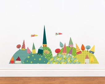 Journey in the Countryside - Wall Decal - Color Print