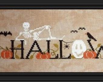 Halloween, counted cross stitch chart. Halloween design.