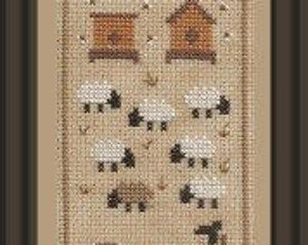 Sheep Story 4 – counted cross stitch chart.