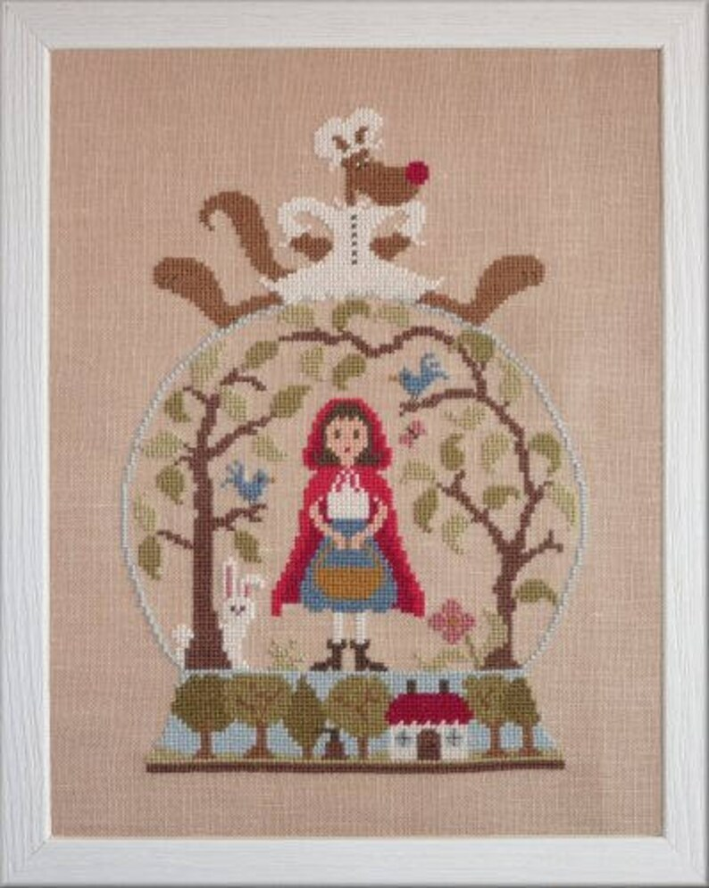 Little Red Riding Hood  counted cross stitch chart to work in image 0