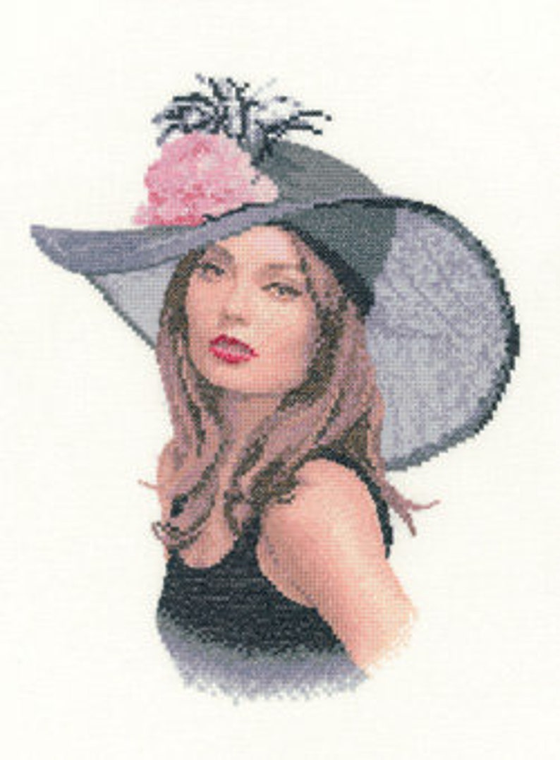 Rachel  counted cross stitch chart. Charted for 19 colours of image 0