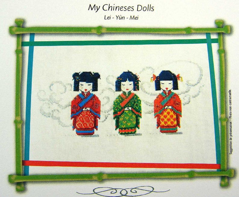 My Chinese Dolls  a lovely counted cross stitch chart with 3 image 0