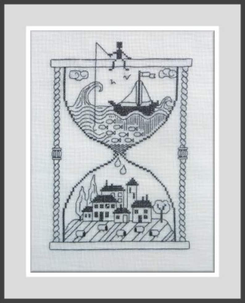 Taking Time Out Prendre le Temps  counted cross stitch image 0