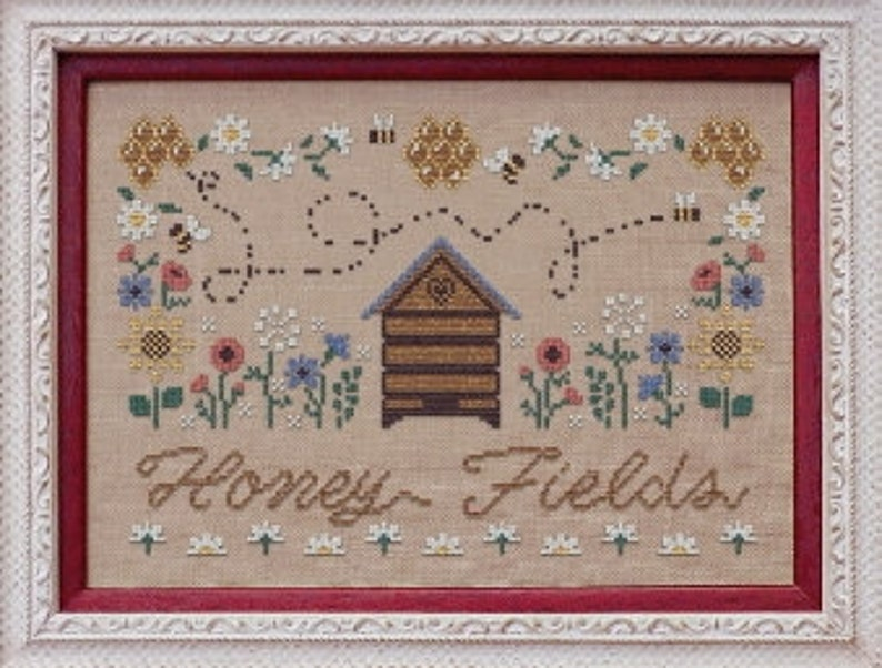 Honey Fields Miel des Champs  counted cross stitch chart. image 0