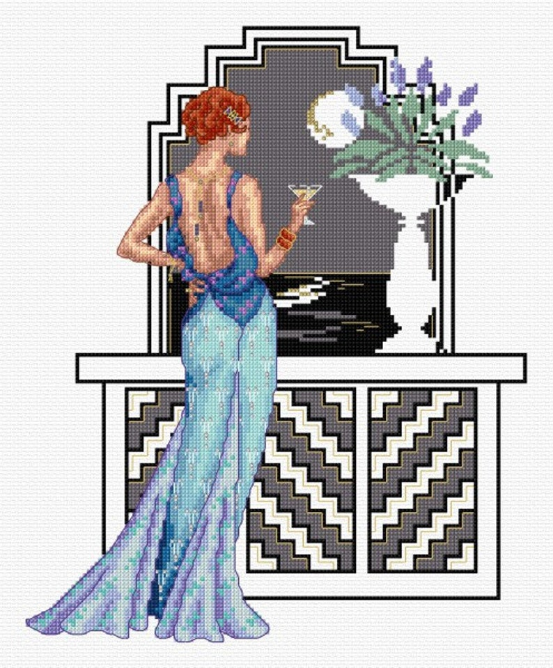 Marlene  counted cross stitch chart. Charted for 26 colours image 0