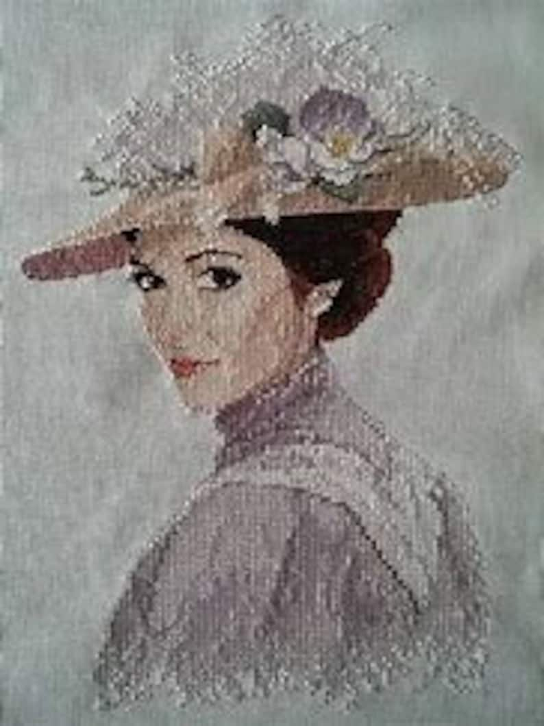 Rebecca  counted cross stitch chart. Charted for 17 colours image 0