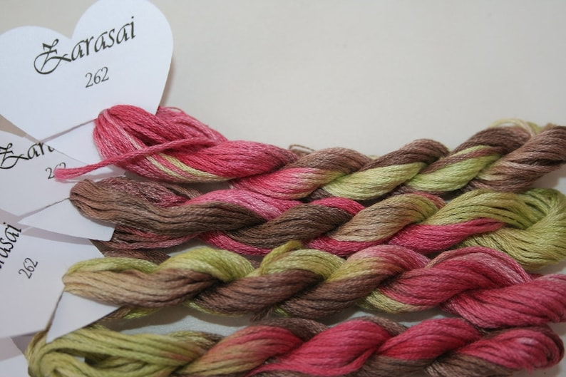 262 Zarasai  hand dyed variegated stranded cotton by Fils a image 0