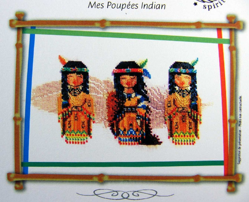 My American Indian Dolls  a lovely counted cross stitch chart image 0