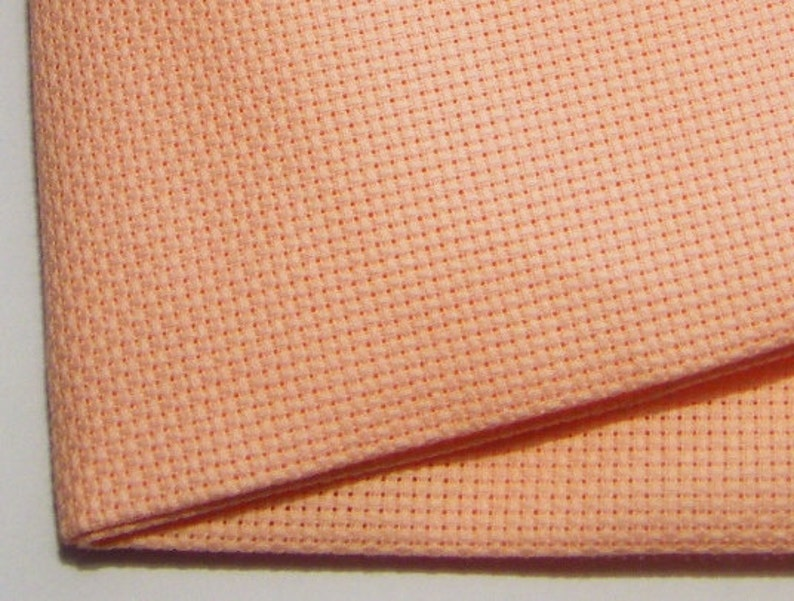 14 count pink Aida  Cut Piece 37.5 x 45 cm.  Use for cross image 0