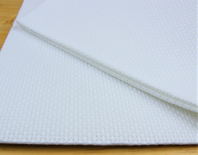 16 count white Aida  Cut Piece 37.5 x 45 cm.  Use for cross image 0