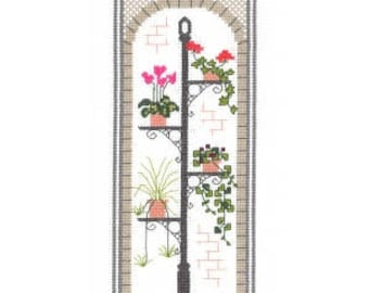 Town Garden - Arch - Counted Cross Stitch Kit. All materials included - evenweave fabric, 10 colours stranded cotton pre-sorted, needle