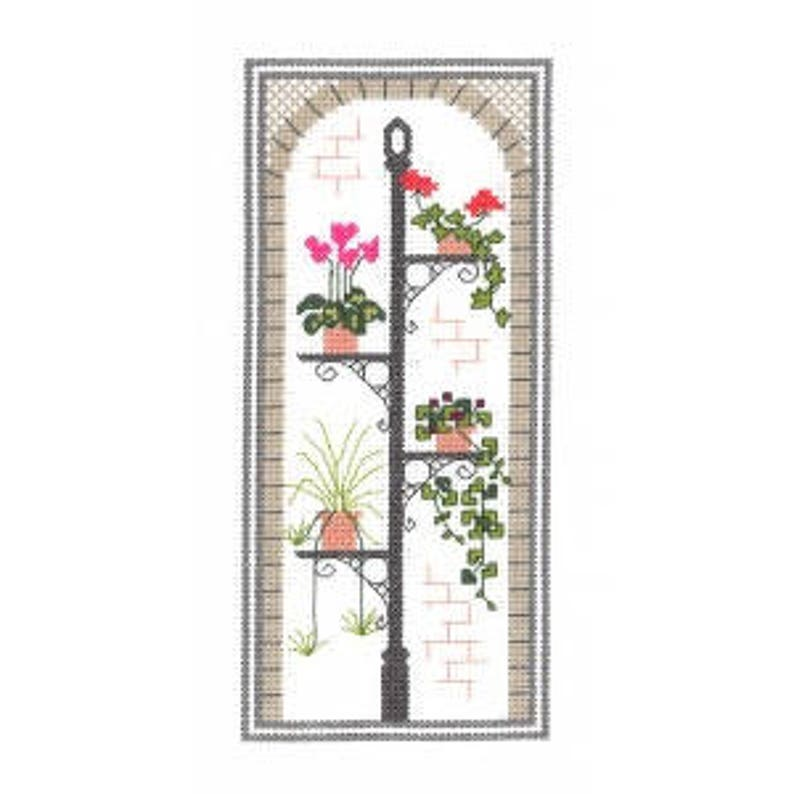 Town Garden  Arch  Counted Cross Stitch Kit. All materials image 0