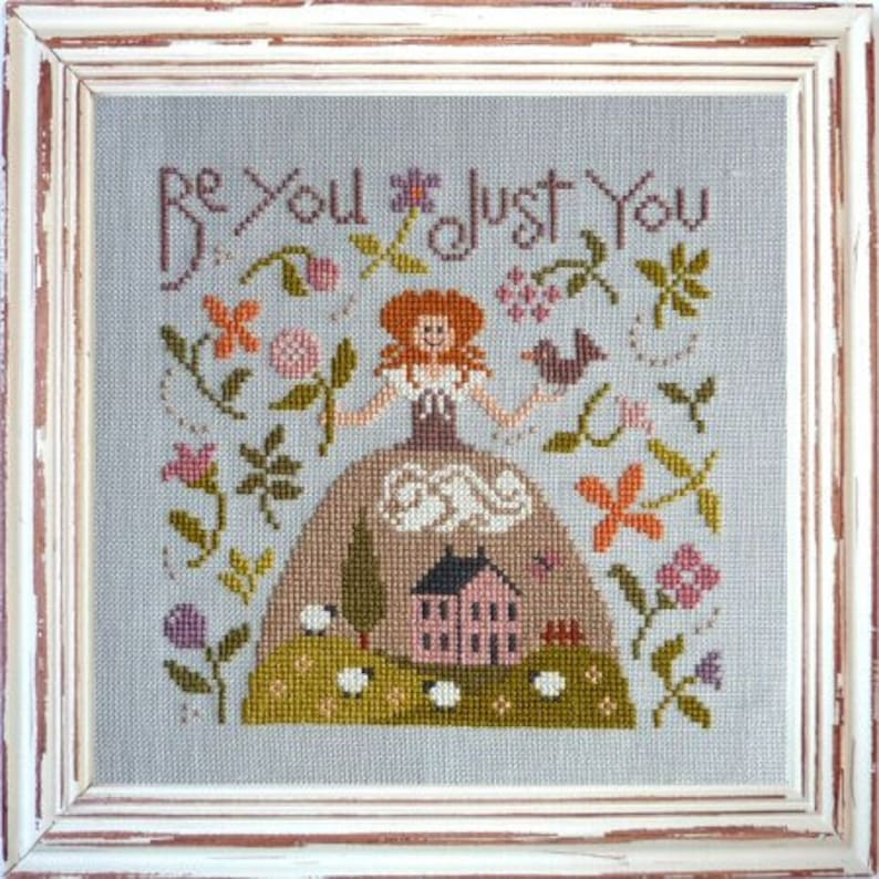 Be You Just You  counted cross stitch chart to work in 13 image 0