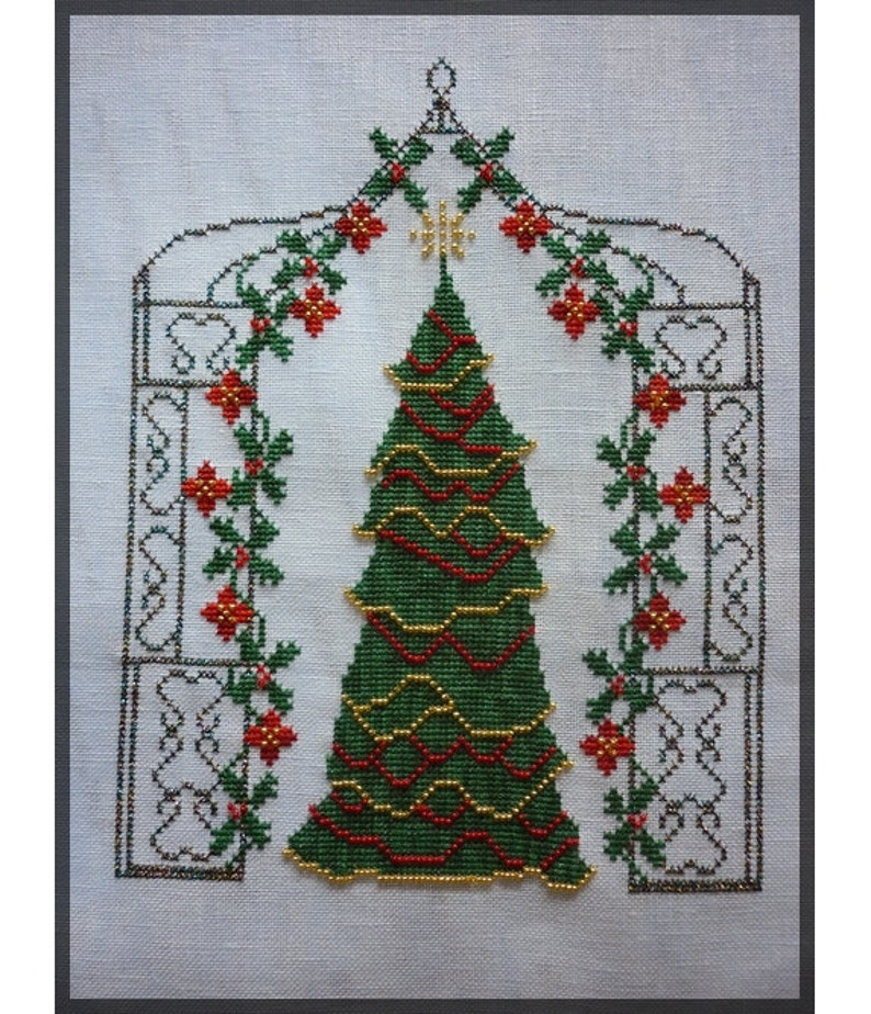 Christmas Arbour. Counted cross stitch chart. French designer. image 0