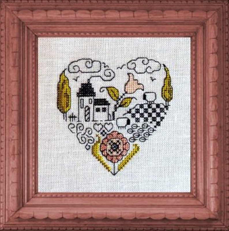 Little Heart Petit Coeur  counted cross stitch chart and image 0