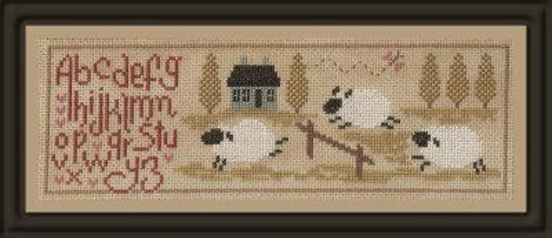 Sheep Story 2  counted cross stitch chart to work in 10 image 0