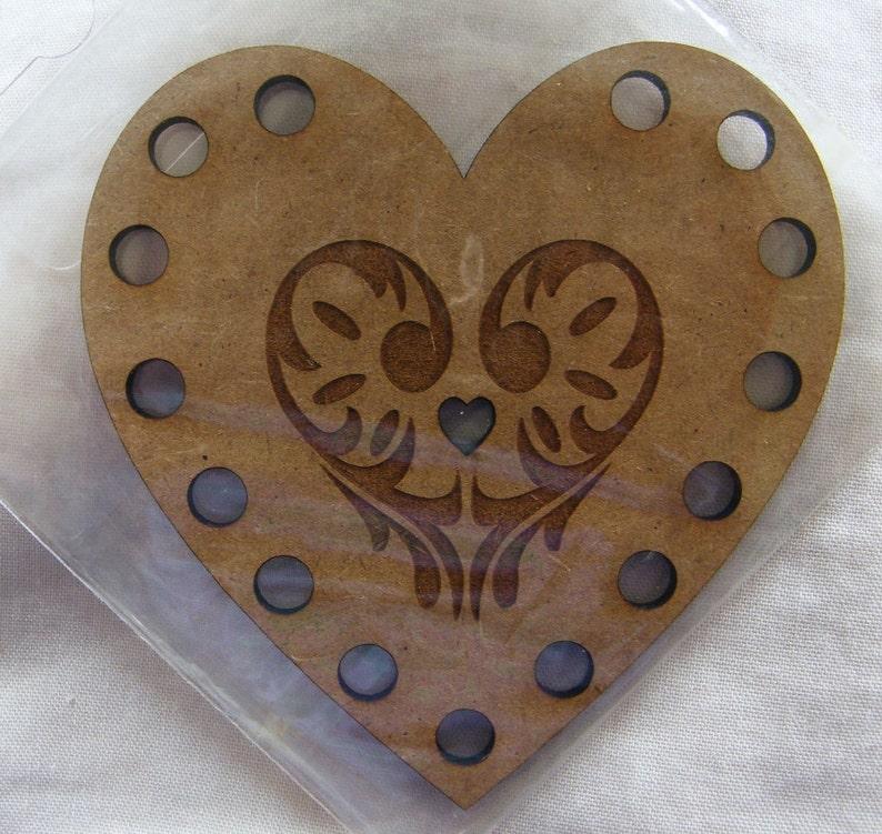 Heart shape Embroidery Thread Floss Holder MDF.  15 image 0